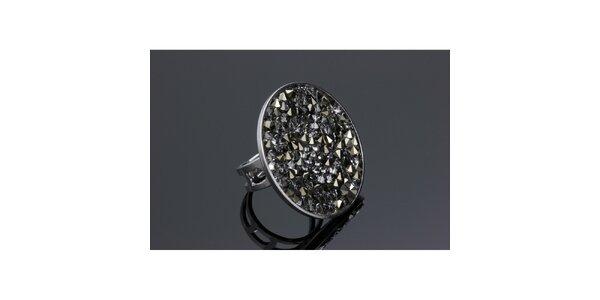 Dámský kulatý prsten Swarovski s metalickými krystaly