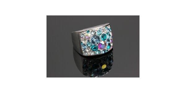 Dámský duhový prsten s krystaly Swarovski