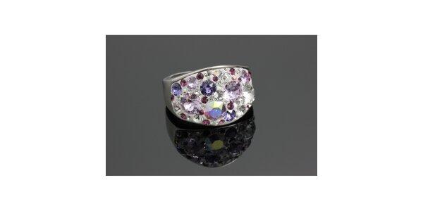 Dámský prsten Swarovski s fialkovými krystaly