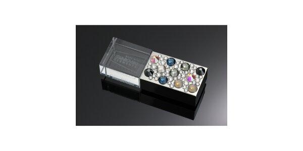 Dámské luxusní USB s barevnými krystaly Swarovski