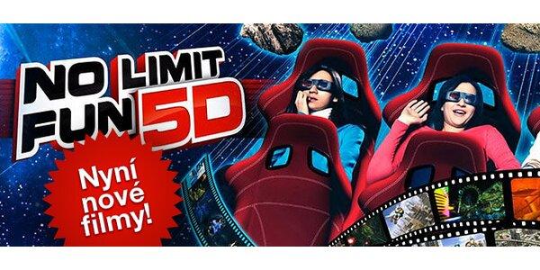 Lístky do 5D kina No Limit Fun pro dva