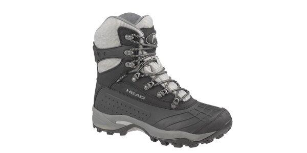 Pánské černo-šedé vysoké zimní trekingové boty Head s membránou