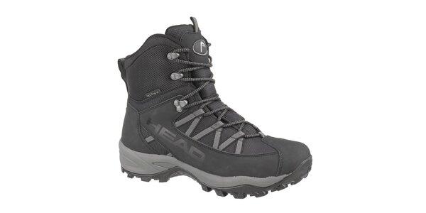 Pánské černé vysoké zimní trekingové boty Head s membránou