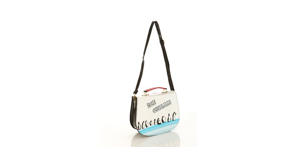Dámská lakovaná kabelka Elite Goby s tučňáky