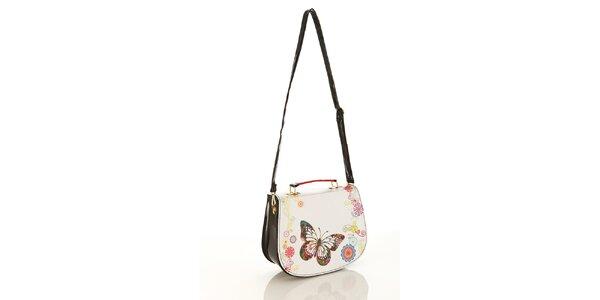 Dámská lakovaná kabelka Elite Goby s motýlkem