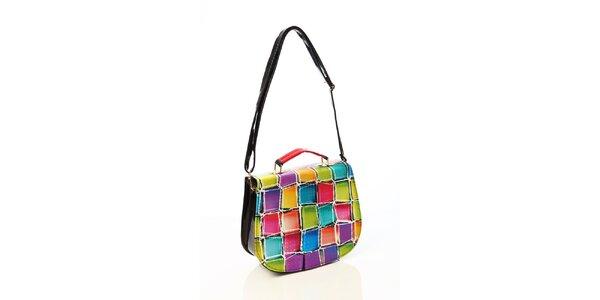 Dámská kabelka s barevnými kostkami Elite Goby