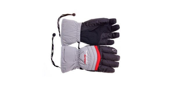 Pánské černo-šedé lyžařské rukavice West Scout s membránou