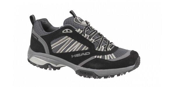 Pánská černo-šedá nízká běžecká terénní obuv