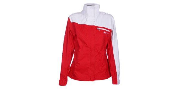 Dámská červeno-bílá bunda Loap
