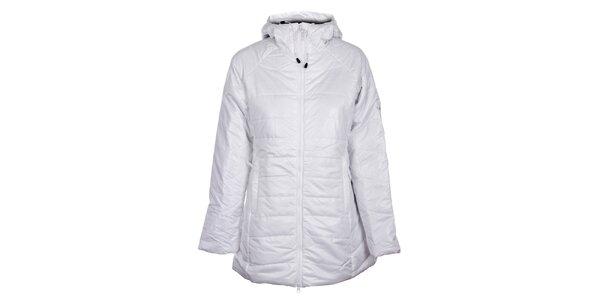 Dámský bílý zimní prošívaný kabát Loap