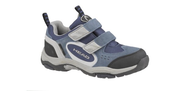 Dětská šedo-modrá nízká trekingová obuv Head