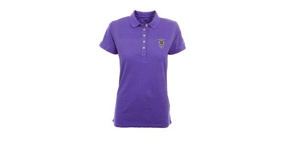 Dámské fialové polo tričko Aeronautica Militare