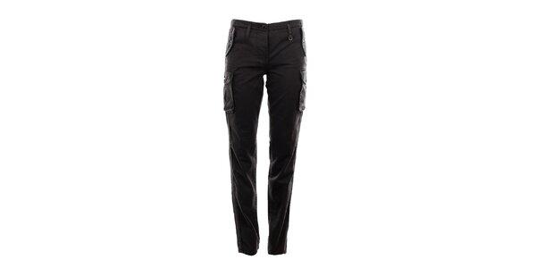 Dámské tmavě šedé kapsáčové kalhoty Aeronautica Militare