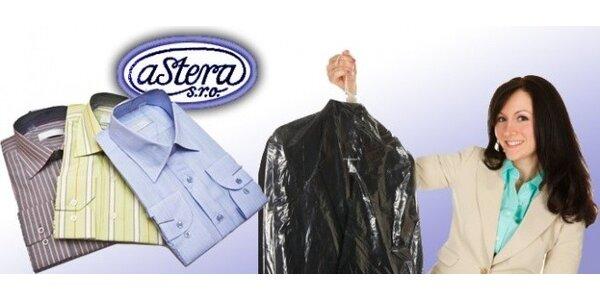 Čištění oděvů, žehlení a další v čistírně Astera