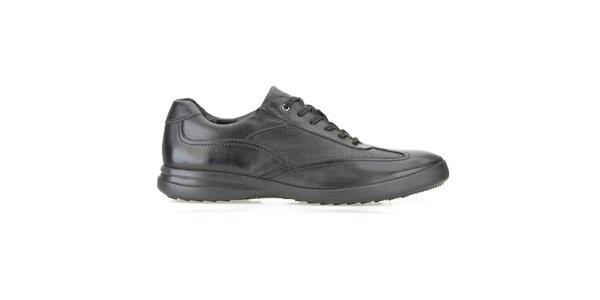 Pánské černé kožené boty Clarks