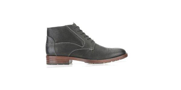 Pánské kotníčkové černé boty Clarks
