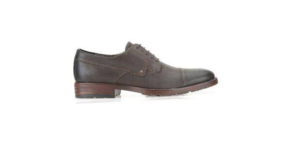 Pánské tmavě hnědé boty Clarks