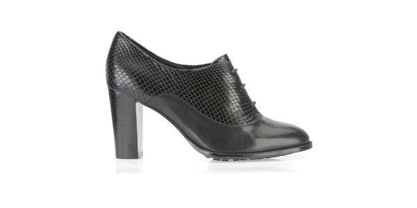 Dámské černé boty na podpatku Clarks