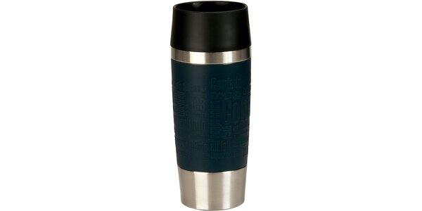 Cestovní hrnek antislip - modrý 0,36 L