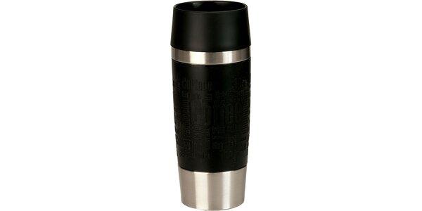 Cestovní hrnek antislip - černý 0,36 L