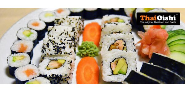 30 kousků sushi s sebou z restaurace Thai Oishi