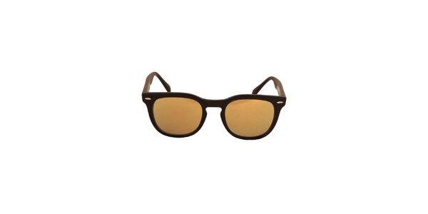 Černé sluneční brýle se zlatavými skly No Limits
