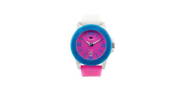 Modro-růžové analogové hodinky No Limits