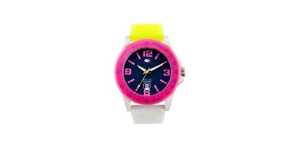 Barevné analogové hodinky s tmavým ciferníkem No Limits
