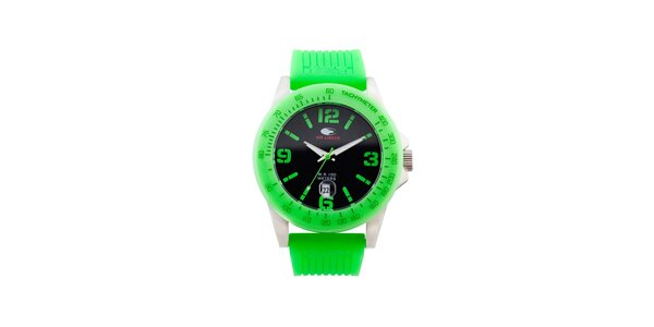 Neonově zelené analogové hodinky No Limits