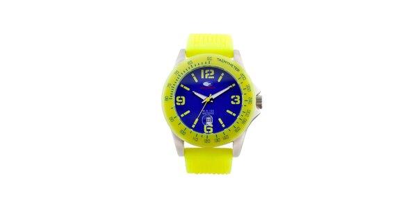Žluto-modré analogové hodinky No Limits