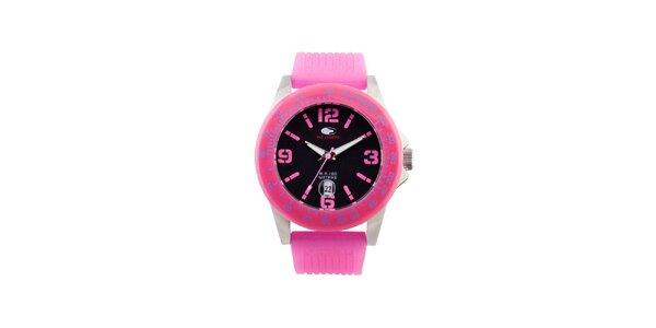 Růžové analogové hodinky No Limits