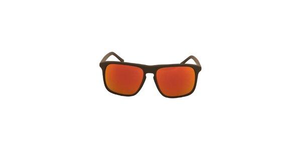 Černé sluneční brýle s oranžovo-červeně zabarvenými skly No Limits