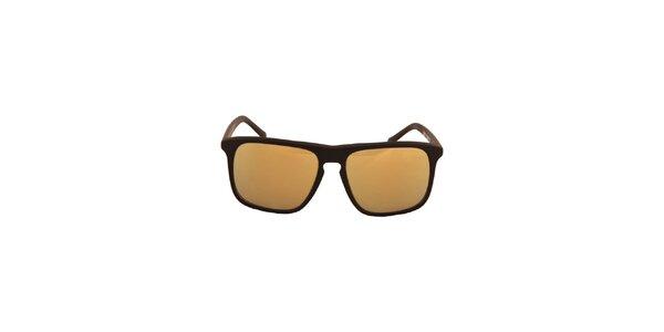 Černé sluneční brýle s zrcadlově zlatými skly No Limits