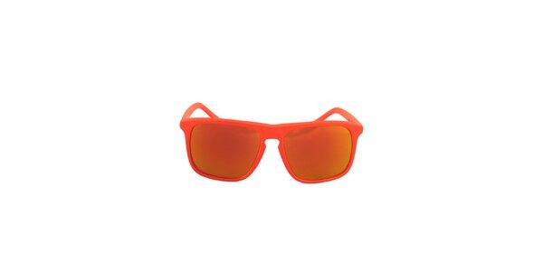 Oranžové hranaté sluneční brýle No Limits se zrcadlovými sklíčky