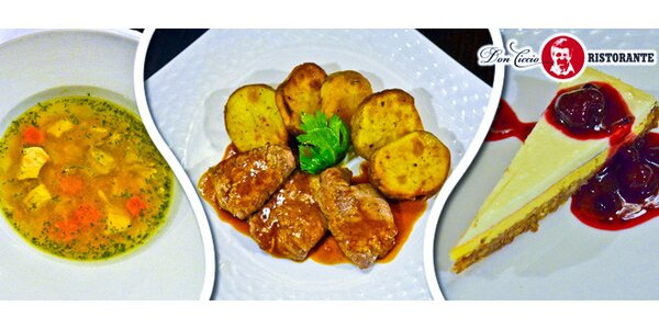 3chodové menu pro dva v ristorante Don Ciccio