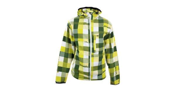 Pánská žluto-zelená kostkovaná mikina Meat Fly