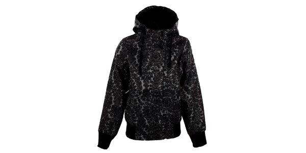 Dámská šedo-černá vzorovaná bunda Meat Fly