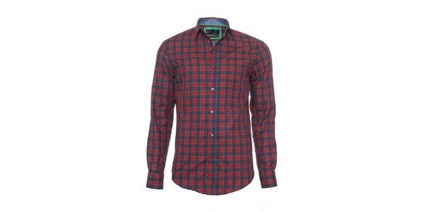 Pánská červeno-šedá kostkovaná košile z limitované kolekce Pontto
