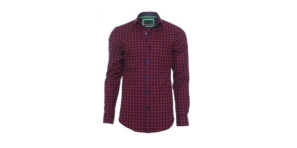 Pánská červeno-černá kostkovaná košile z limitované kolekce Pontto