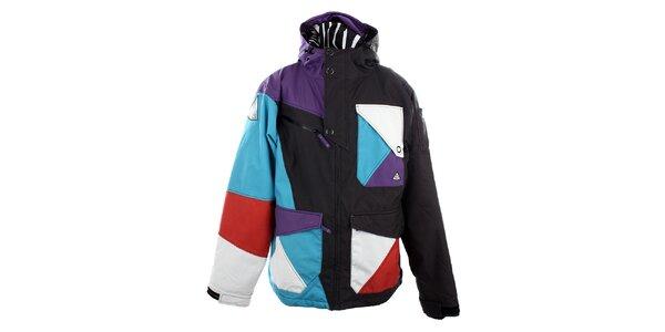 Pánská černá funkční bunda s barevnými plochami Meat Fly