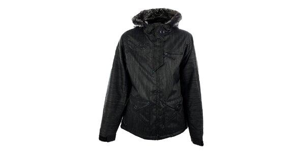 Dámská tmavě šedá funkční zimní bunda s melírem Meat Fly