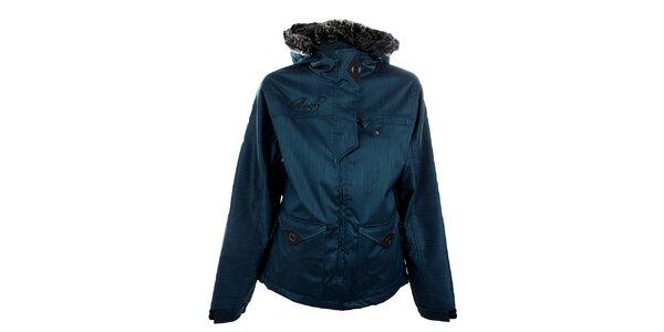 Dámská metalicky modrá funkční zimní bunda Meat Fly
