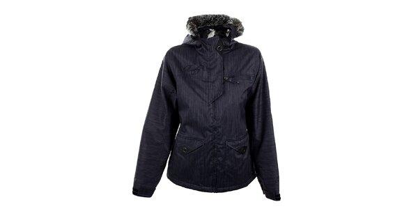 Dámská modro-šedá funkční zimní bunda Meat Fly
