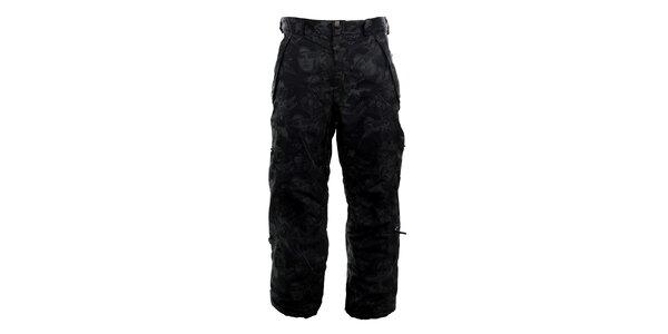 Pánské černé vzorované funkční kalhoty Meat Fly
