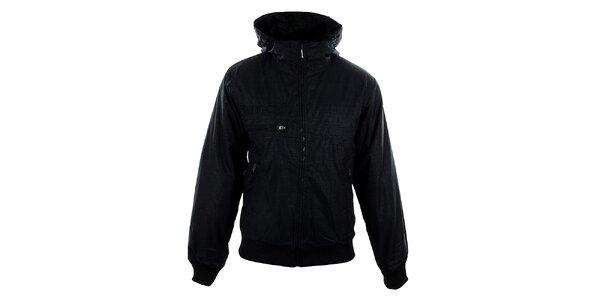 Pánská černá bunda Meat Fly s jemným vzorem