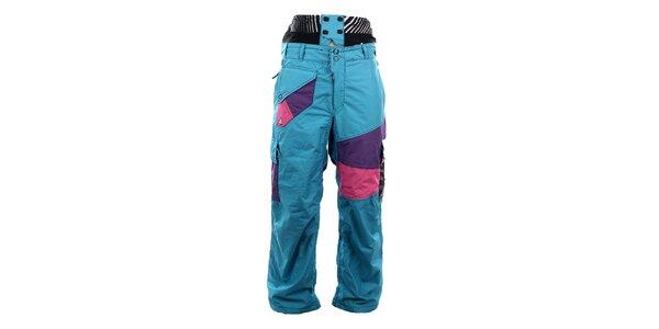 Pánské modré lyžařské kalhoty Meat Fly