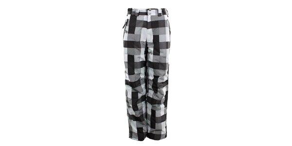 Dámské černo-bíle kostkované funkční kalhoty Meat Fly