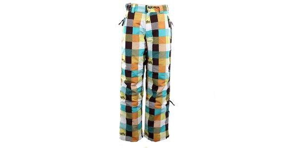 Dámské barevně kostkované funkční kalhoty Meat Fly