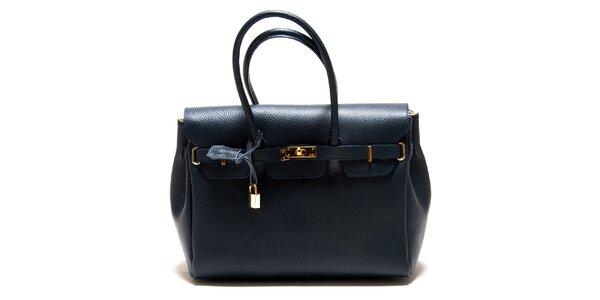 Dámská tmavě modrá kabelka se zámečkem Roberta Minelli