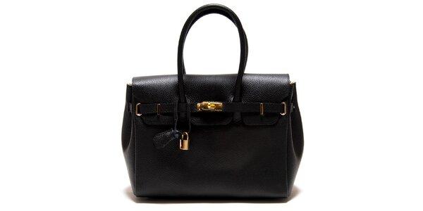 Dámská černá kabelka se zámečkem Roberta Minelli